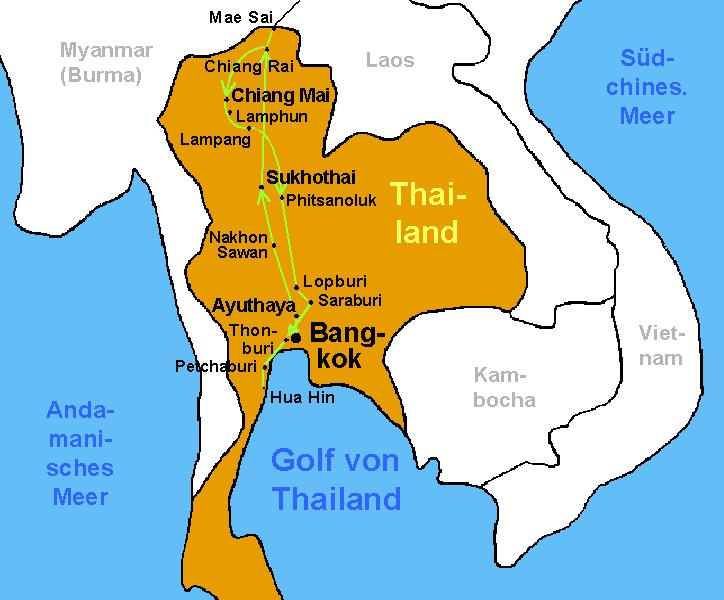 Bangkok Karte.Bangkok Thailand Karte Hanzeontwerpfabriek