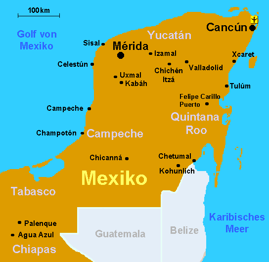 Mexiko Karte Cancun.Top 10 Punto Medio Noticias Yucatan Mexiko Karte