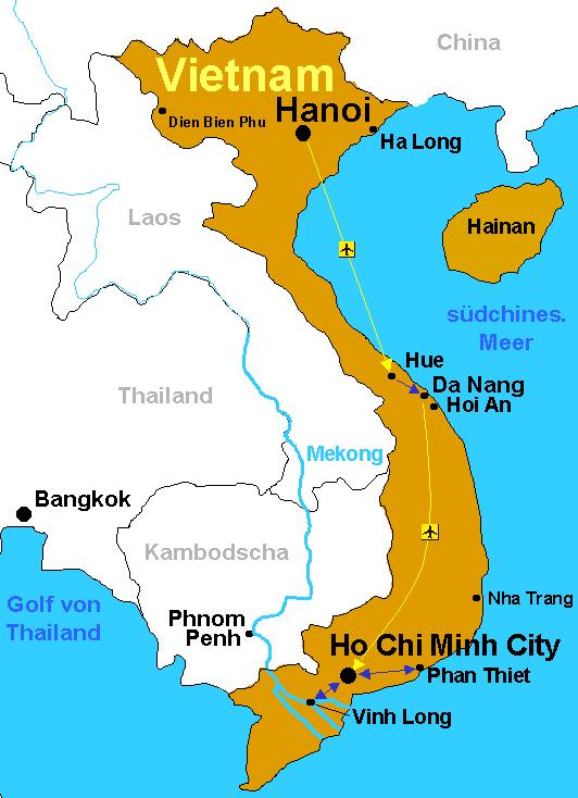 Vietnamkrieg Karte.Matthias Weisser S Reisebericht Vietnam Von Hanoi Nach Saigon